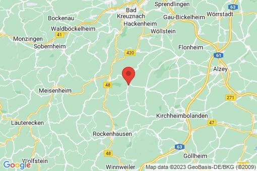 Karte Oberhausen an der Appel