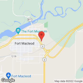 Map of Tim Hortons at 2010 8th Ave, Fort Macleod, AB T0L 0Z0
