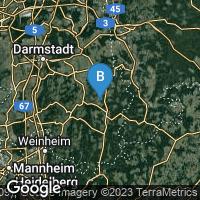 Lagekarte von Brombachtal-Langenbrombach