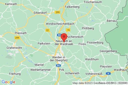 Karte Neustadt an der Waldnaab