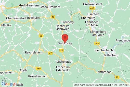 Karte Bad König