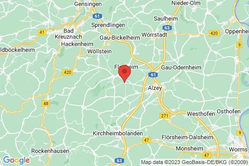 Karte Erbes-Büdesheim
