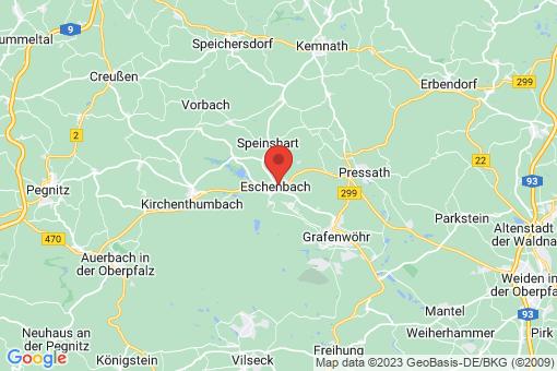 Karte Eschenbach in der Oberpfalz