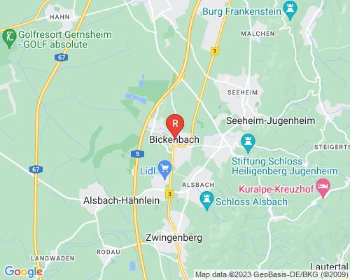 Google Karte von Rohrreinigung Bickenbach