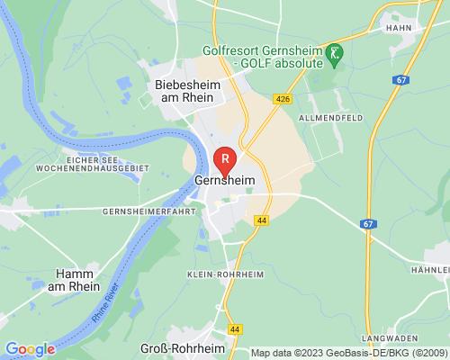 Google Karte von Rohrreinigung Gernsheim
