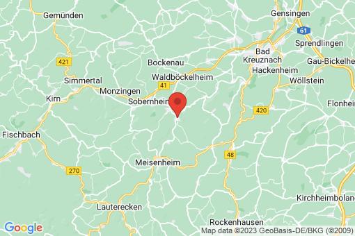 Karte Odernheim am Glan