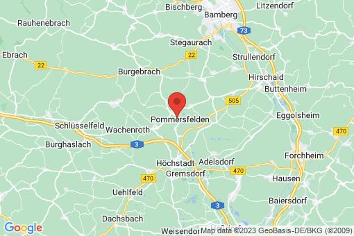 Karte Pommersfelden
