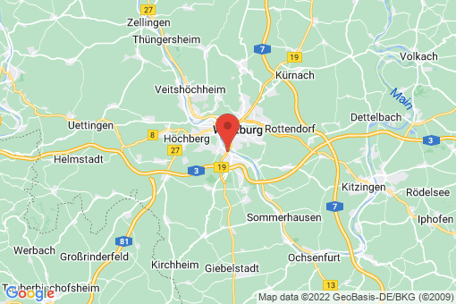 Karte Würzburg