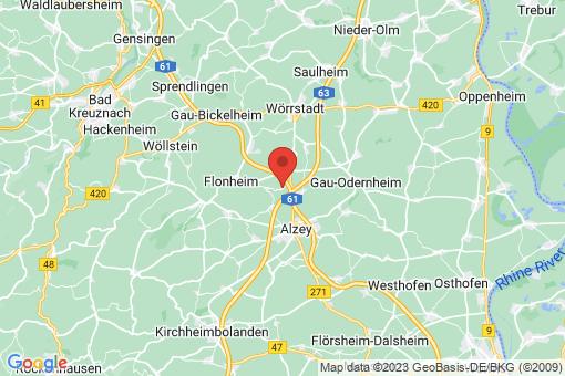 Karte Bermersheim vor der Höhe