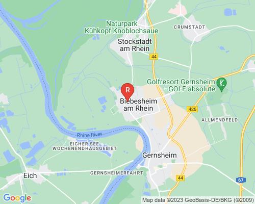 Google Karte von Rohrreinigung Biebesheim am Rhein
