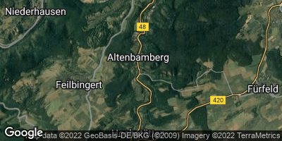 Google Map of Altenbamberg
