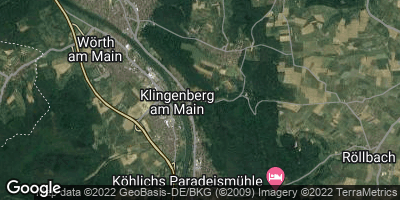 Google Map of Klingenberg am Main