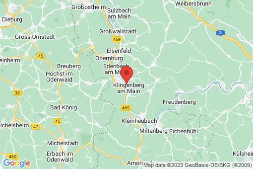 Karte Klingenberg am Main
