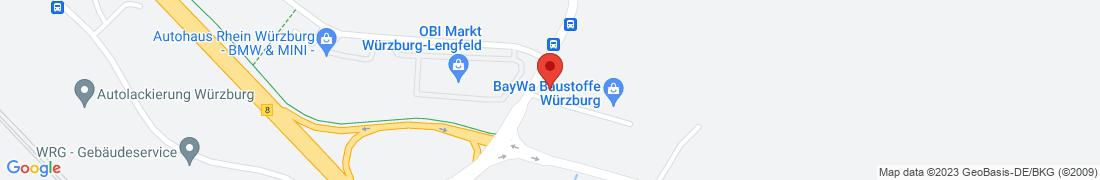 BayWa Baustoffe Wuerzburg-Woellrieder Anfahrt