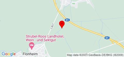 Google Map für Monteurzimmer Heuser in Rheinhessen Flonheim