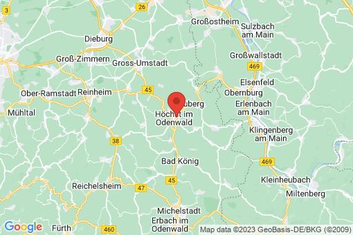 Karte Höchst im Odenwald