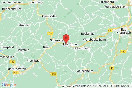 Karte Weiler bei Monzingen