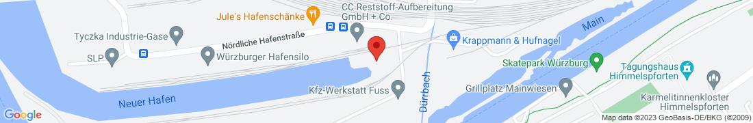 BayWa Agrar Würzburg-Neuer Hafen Anfahrt