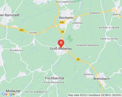 Google Karte von Rohrreinigung Groß-Bieberau