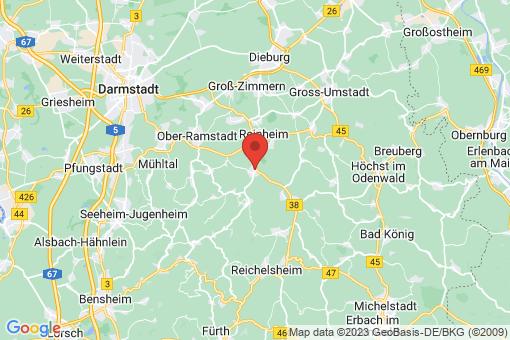 Karte Groß-Bieberau