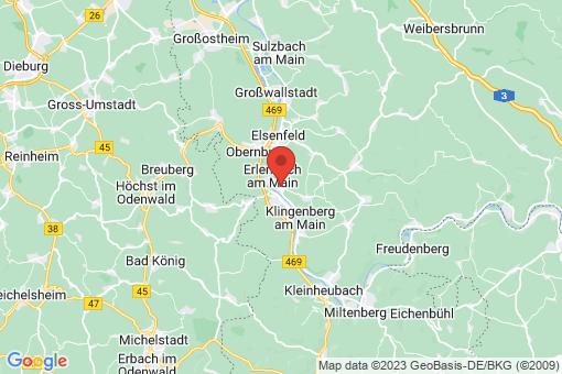 Karte Erlenbach am Main