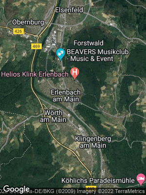 Google Map of Erlenbach am Main