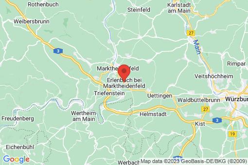 Karte Erlenbach bei Marktheidenfeld