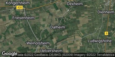 Google Map of Dalheim bei Mainz