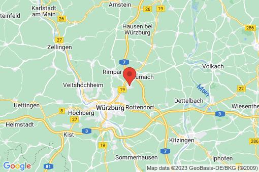 Karte Estenfeld