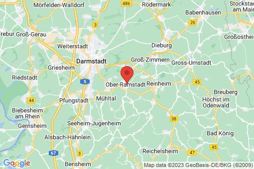 Karte Ober-Ramstadt
