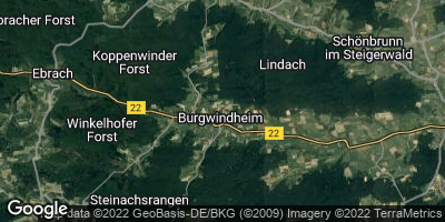 Google Map of Burgwindheim