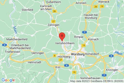 Karte Margetshöchheim