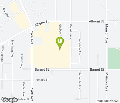 Map of 7100 Alberni St in Powell River