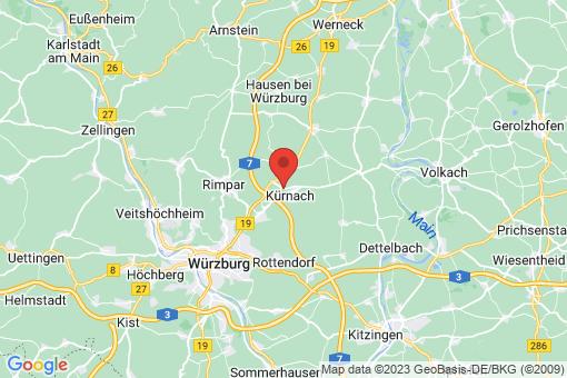 Karte Kürnach
