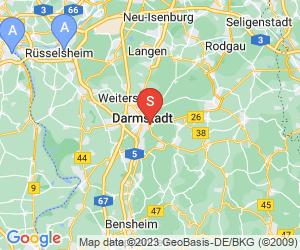 Karte für Disc Golf-Anlage Darmstadt