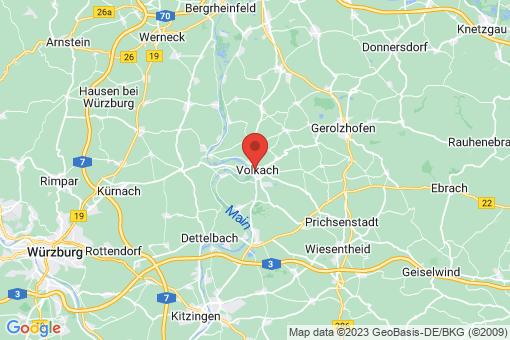Karte Volkach