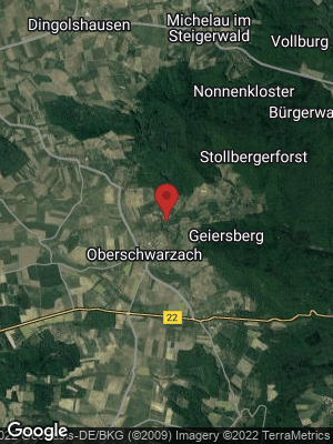 Google Map of Oberschwarzach