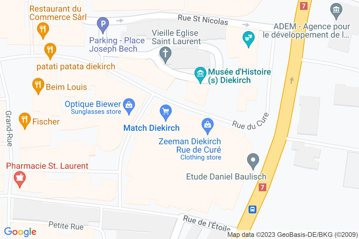 situation du Match Diekirch