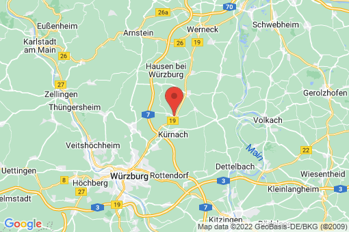Karte Unterpleichfeld
