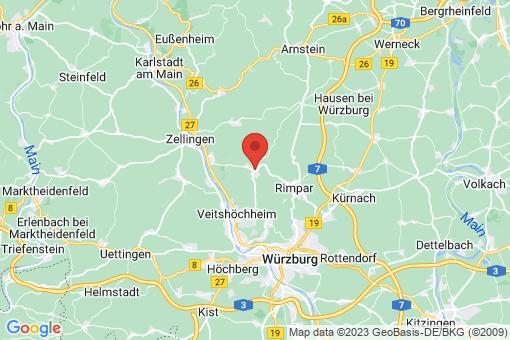 Karte Güntersleben