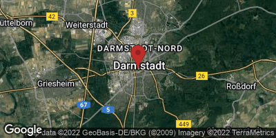 Google Map of Darmstadt
