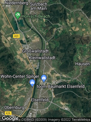 Google Map of Kleinwallstadt