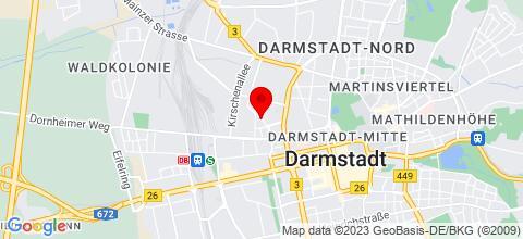 Google Map für Monteurwohnungen Freigericht, Neuberg, Niederdorfelden