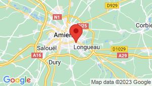Carte de localisation du centre de contrôle technique AMIENS