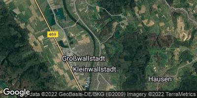 Google Map of Großwallstadt
