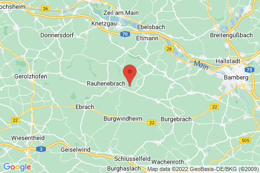 Karte Rauhenebrach