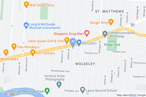 Map of 966 Portage Ave