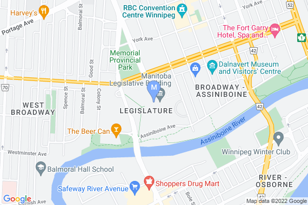 Map of Manitoba Legislative Building