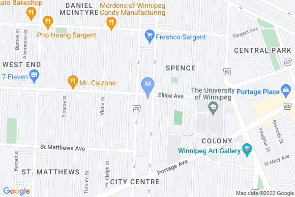 Map of 602 Ellice Ave