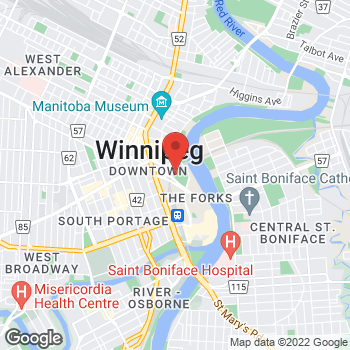 Map of Tim Hortons at 1 Portage Ave East, Winnipeg, MB R3B 3N3